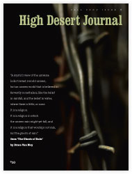 High Desert Journal cover