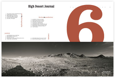 High Desert Journal page spread page spread