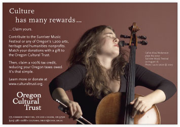 Oregon Cultural Trust advertising